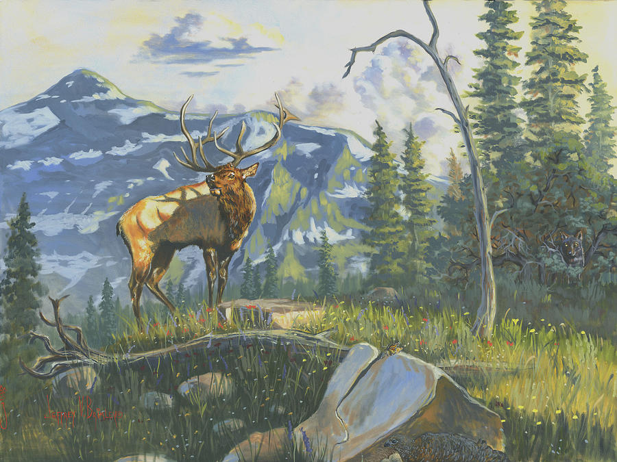 Jeff Painting - Issuing The Call by Jeff Brimley