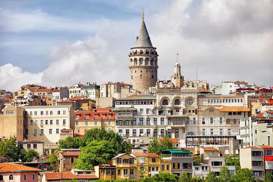 Galata Photograph - Istanbul Cityscape And Galata Tower by Artur Bogacki