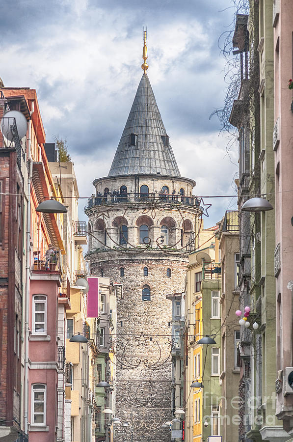 Istanbul Photograph - Istanbul Galata Tower by Antony McAulay