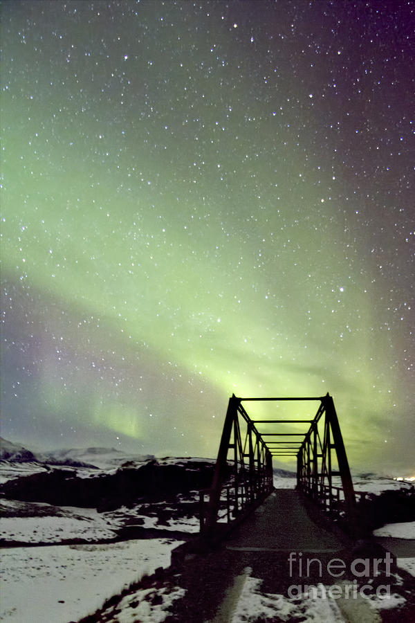 Aurora Photograph - It Came Upon A Midnight Clear by Evelina Kremsdorf