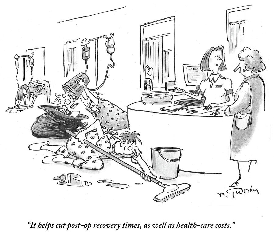It Helps Post Op Recovery Times Drawing by Mike Twohy