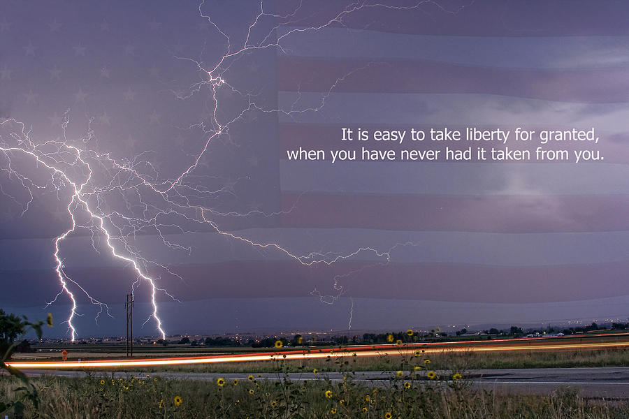 Lightning Photograph - It Is Easy To Take Liberty For Granted by James BO  Insogna