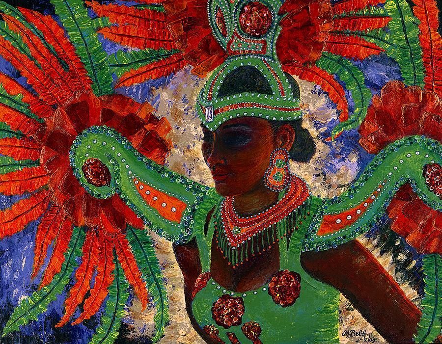 Mardi Gras Painting - It Looks Like Mardi Gras Time by Margaret Bobb