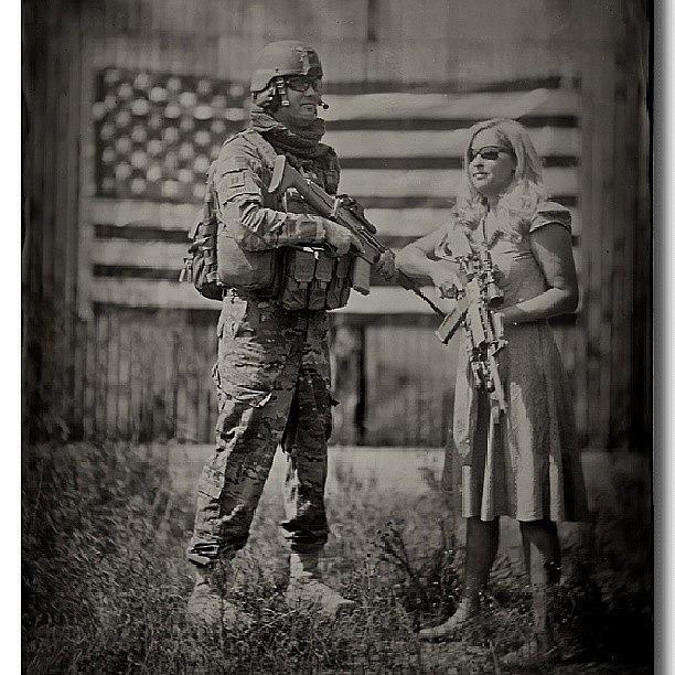 Tintype Photograph - It Takes An Equally Strong Woman.  Crop by Chris Morgan