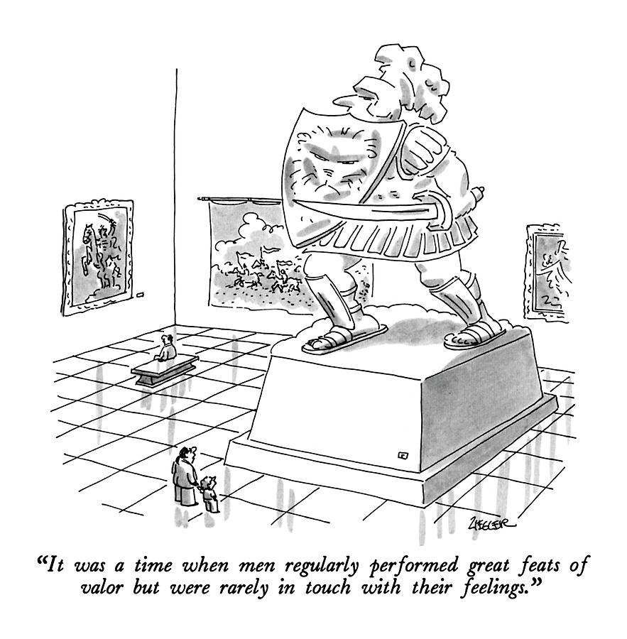 It Was A Time When Men Regularly Performed Great Drawing by Jack Ziegler