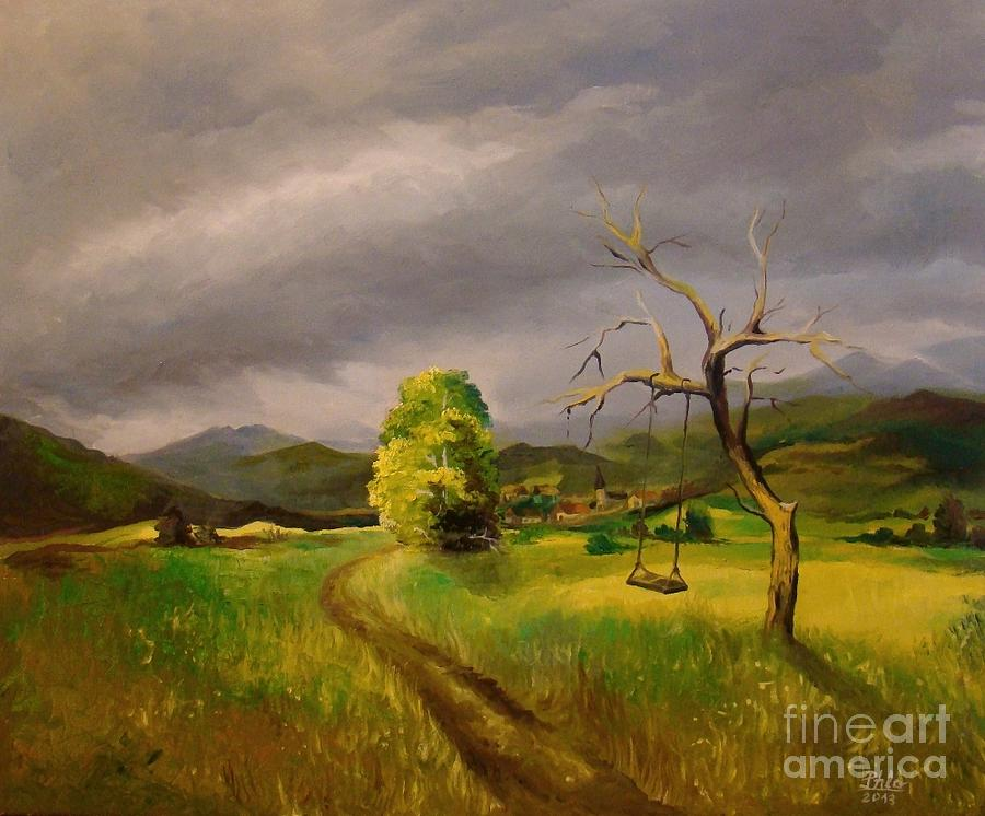 Landscape Painting - It Will Rain by Stan Florin