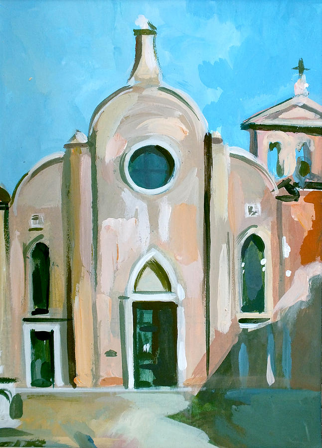 Italian Landscapes Painting - Italian Church by Filip Mihail