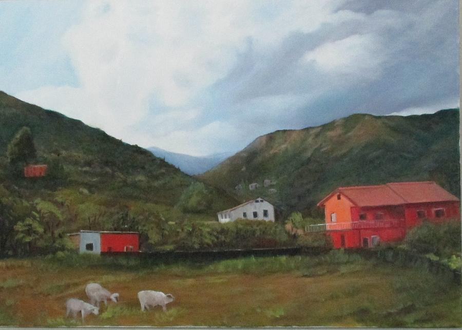 Italian Country Side Painting