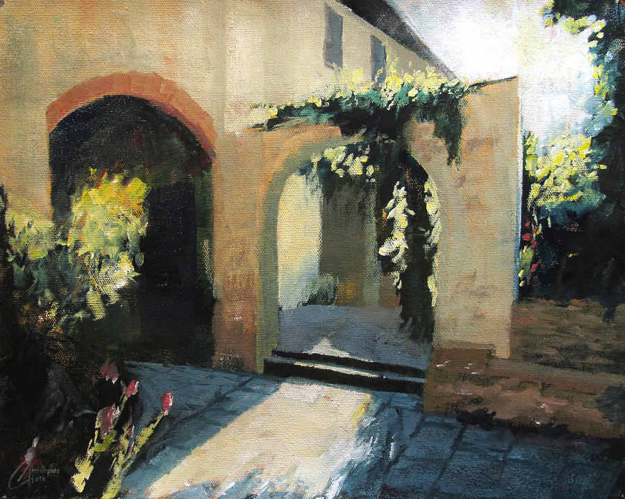 Captivating Christopher Clark Painting   Italian Courtyard By Christopher Clark