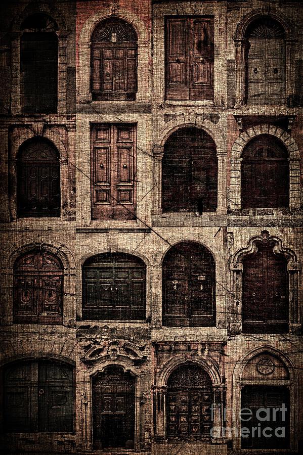 Abstract Pyrography - Italian Doors. by Juan Nel