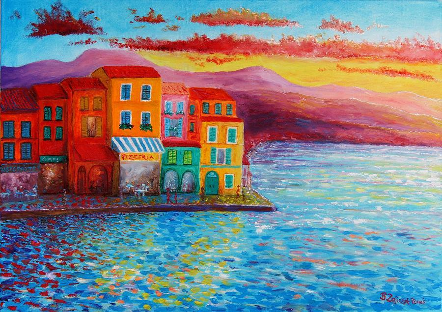 Italian Coast Painting - Italian Dream by Bozena Zajiczek-Panus