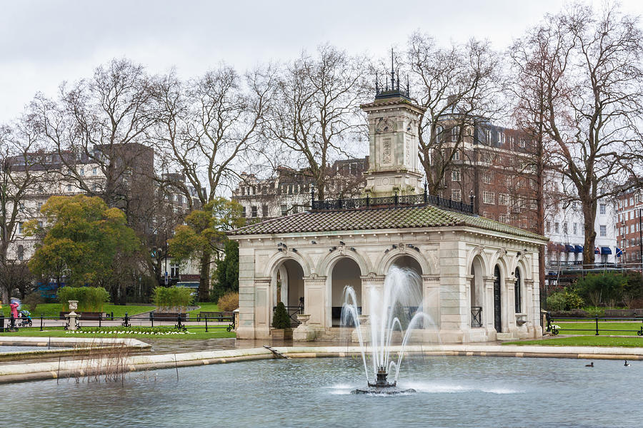 City Photograph - Italian Fountain In London Hyde Park by Semmick Photo