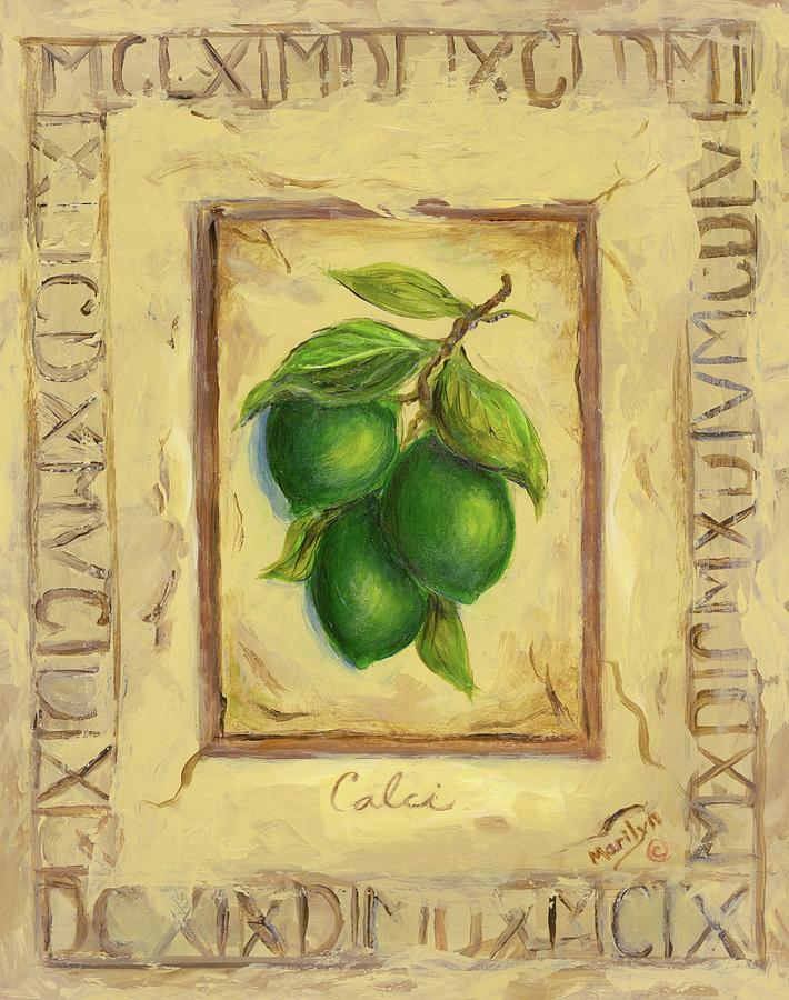 Italy Painting - Italian Fruit Limes by Marilyn Dunlap