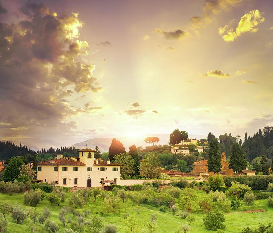 Italian  Landscape Photograph by Dtokar