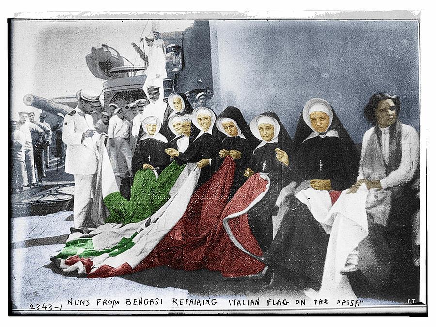 Italy Photograph - Italian Nuns by Tony Rubino