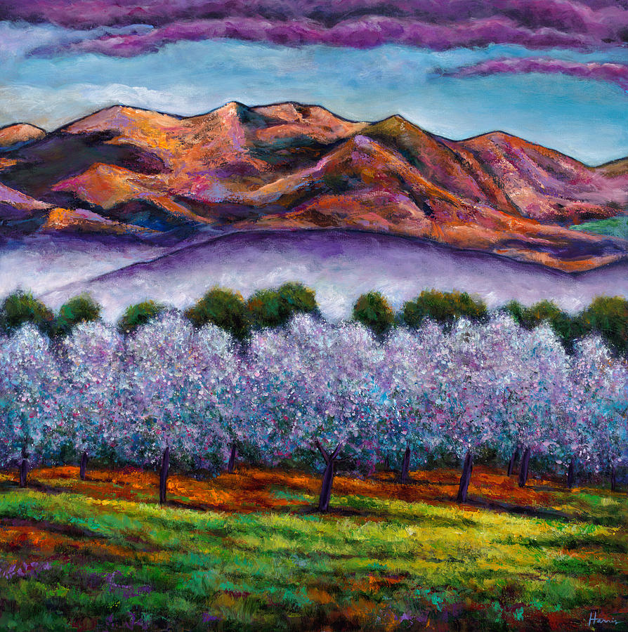 Landscape Painting - Italian Orchard by Johnathan Harris