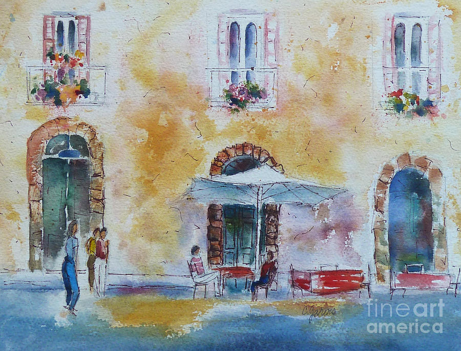 Italy Painting - Italian Piazza by Carolyn Jarvis
