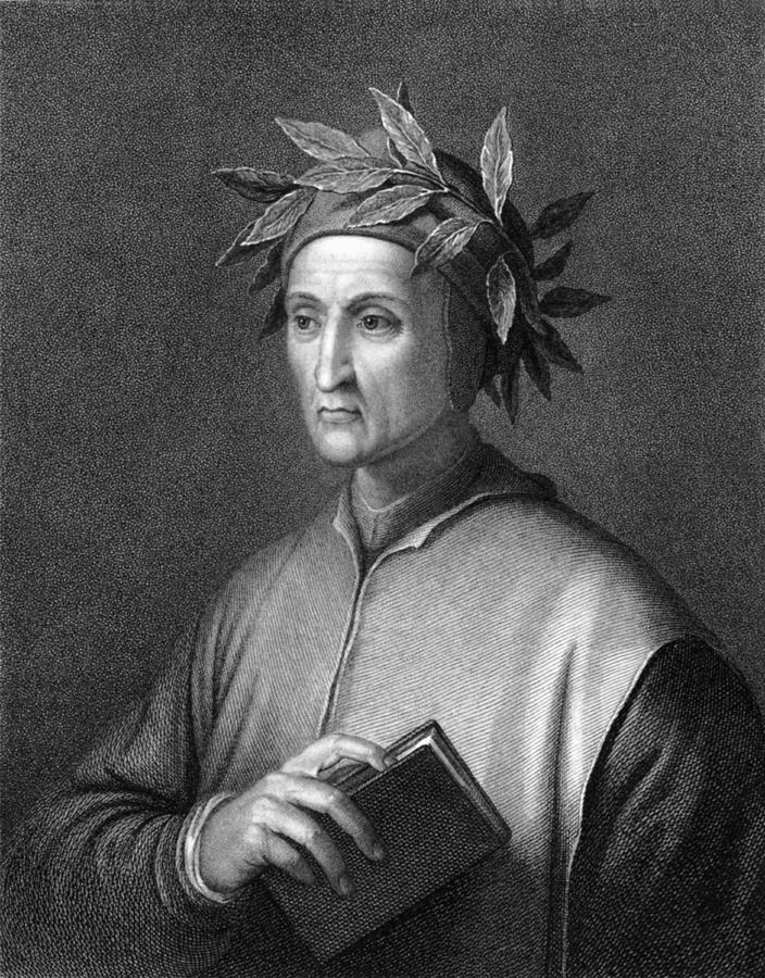 1300s Photograph - Italian Poet Dante Alighieri by Underwood Archives