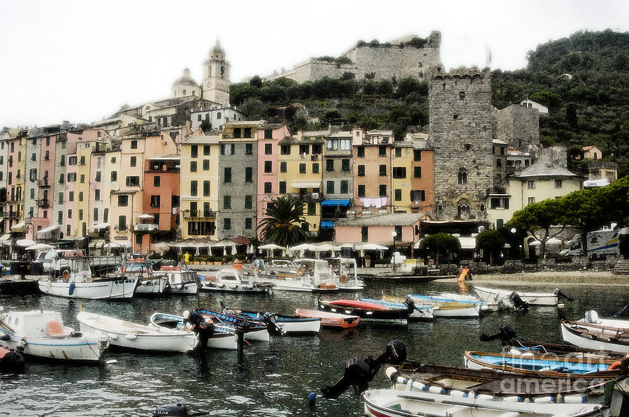 Harbor Photograph - Italian Seaside Village by Jim  Calarese