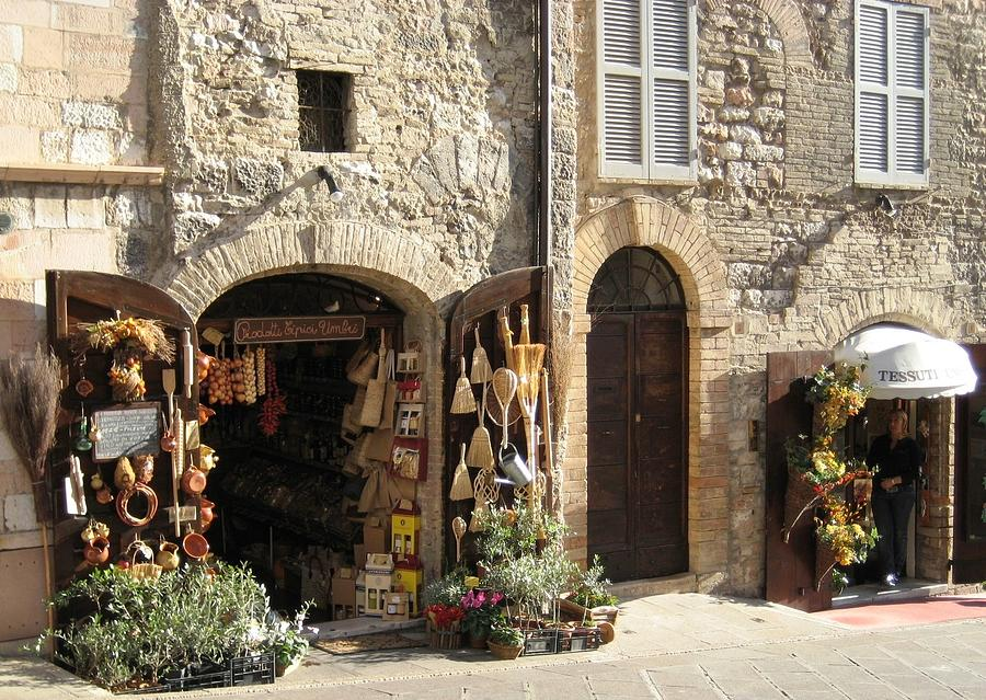 Italy Photograph - Italian Shops by Crow River North Photography