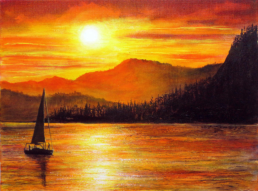 Italian Sunset Painting By Ann Marie Bone