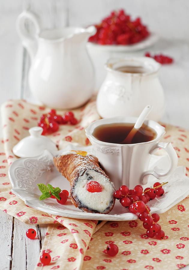 Italian Traditional Sweet Dessert Photograph by Oxana Denezhkina