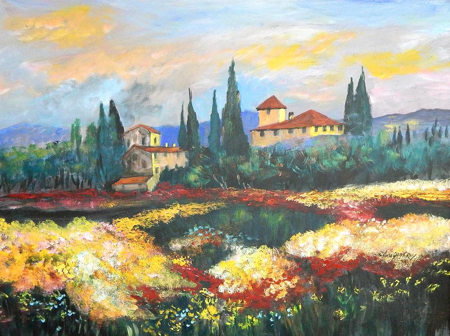 Milan Painting - Italian Villa  by Anna Sandhu Ray