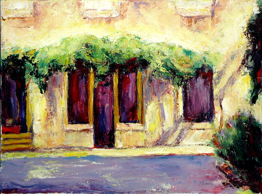 Window Painting - Italian Windows And Doors by Sheila Diemert & Italian Windows And Doors Painting by Sheila Diemert
