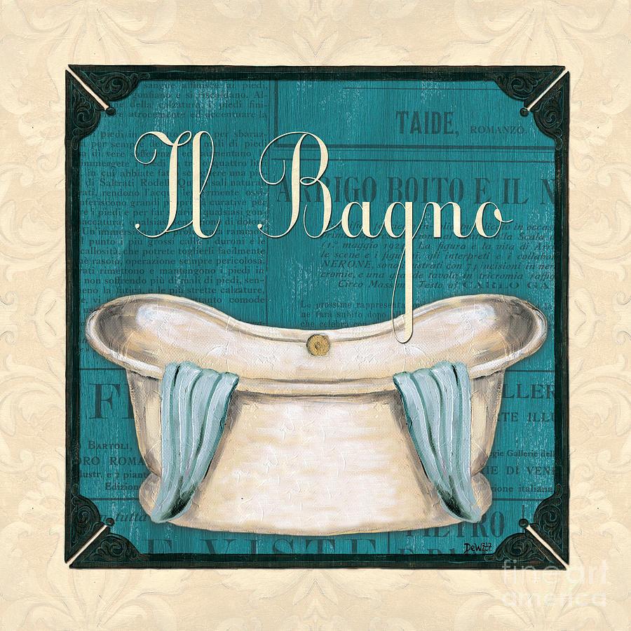 Bath Painting - Italianate Bath by Debbie DeWitt