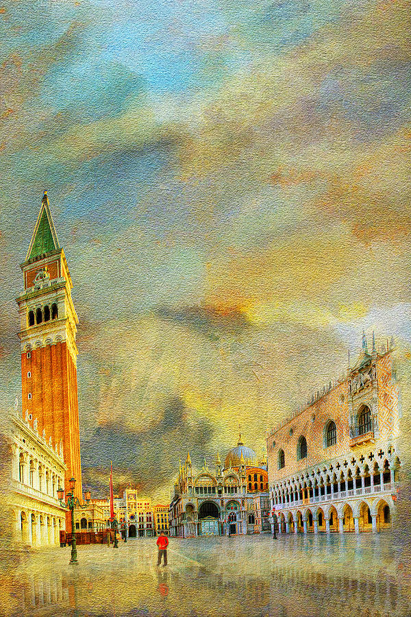 Italy 03 Painting by Catf