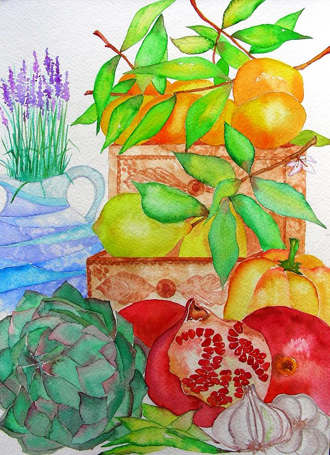 Fruits Painting - Italy by Elena Mahoney