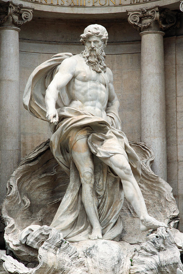 Italy, Rome, Trevi Fountain, statue of Neptune Photograph by James Hardy