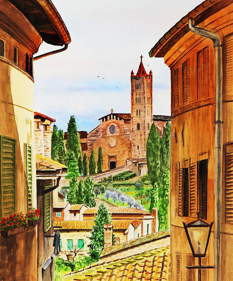 Siena Italy Painting - Italy Siena by Irina Sztukowski