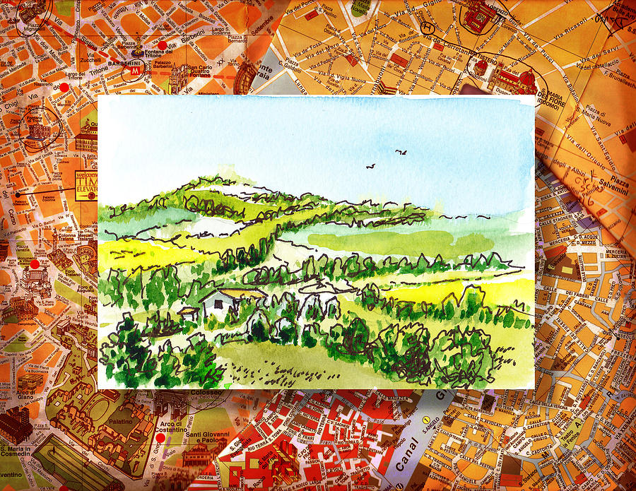Italy Painting - Italy Sketches From Florence To Rome by Irina Sztukowski