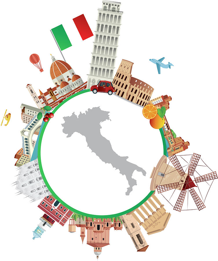 Italy Travel Digital Art by Drmakkoy
