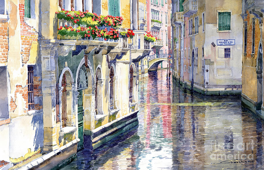 Watercolor Painting - Italy Venice Midday by Yuriy Shevchuk