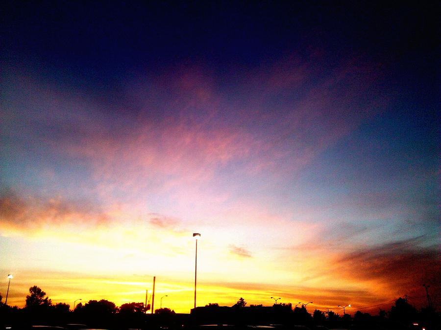 Sky Photograph - Ithaca New York  Sunset by Jo-Ann Hayden