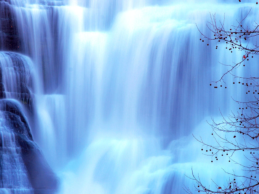 Ithaca Photograph - Ithaca Water Falls New York  by Paul Ge