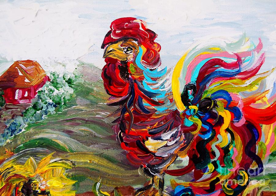 Chicken Painting - Its A Cockadoodle Do Morning by Eloise Schneider