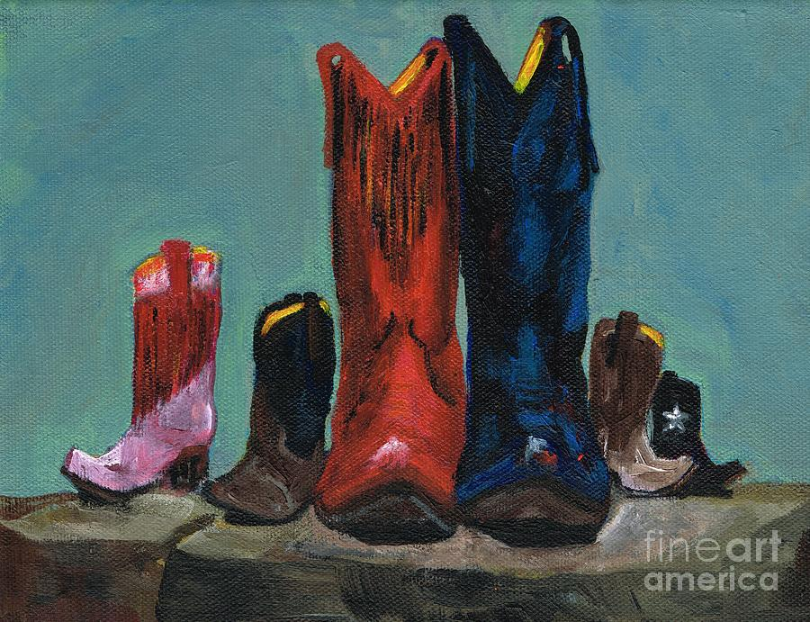 Western Boots Painting - Its A Family Tradition by Frances Marino