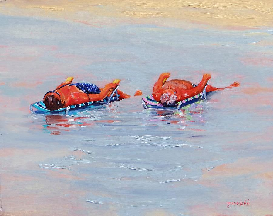 Beach Painting - Its A Hot One by Laura Lee Zanghetti