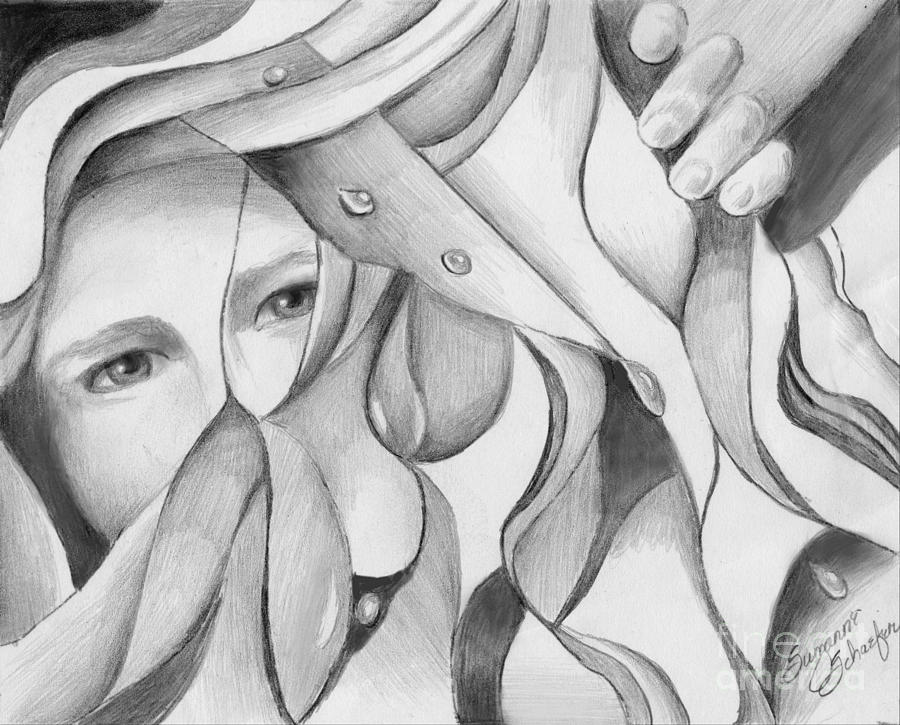 Pencil drawing its a jungle out there by suzanne schaefer