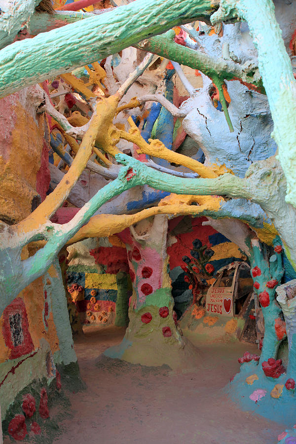 Salvation Mountain Photograph - Its A Magical World by Laurie Search