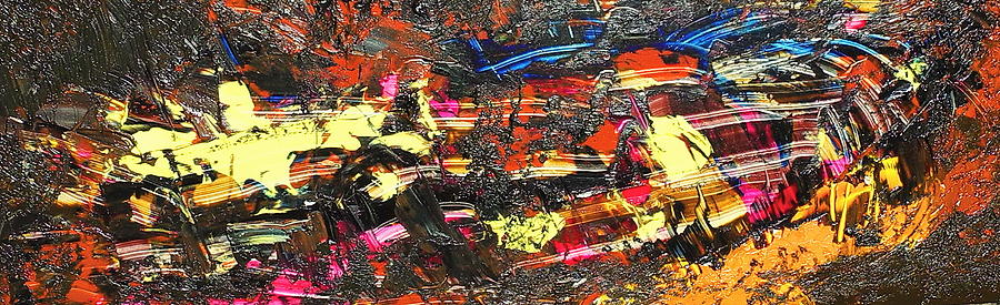 Abstract Painting - Its A Raceway Kind Of Life by Sue McElligott