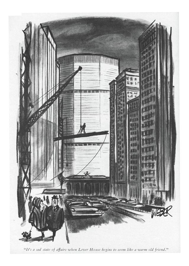 Its A Sad State Of Affairs When Lever House Drawing by Robert Weber