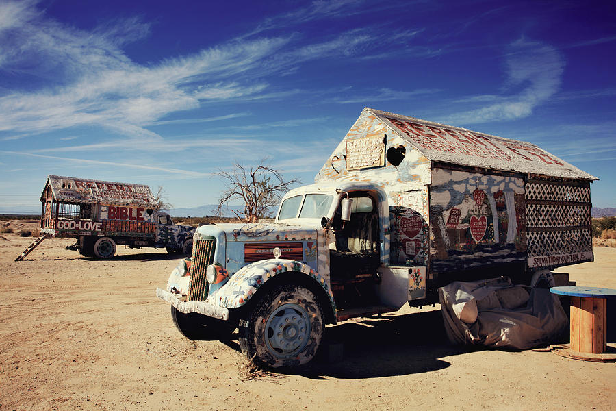 Salvation Mountain Photograph - Its All About Love by Laurie Search