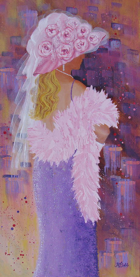 Red Hat Society Painting - Pretty in Pink by Margaret Bobb