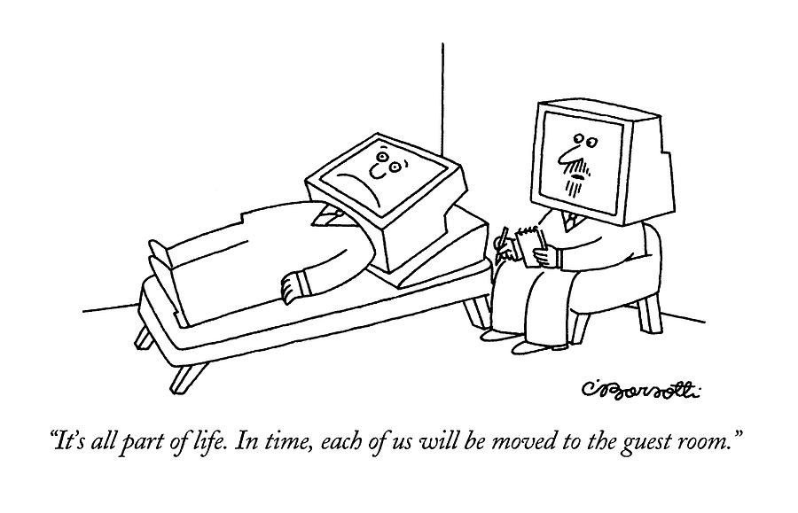 Its All Part Of Life.  In Time Drawing by Charles Barsotti
