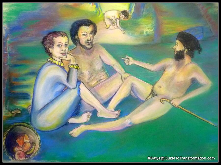 Women Pastel - Its Been No Picnic by Satya Winkelman