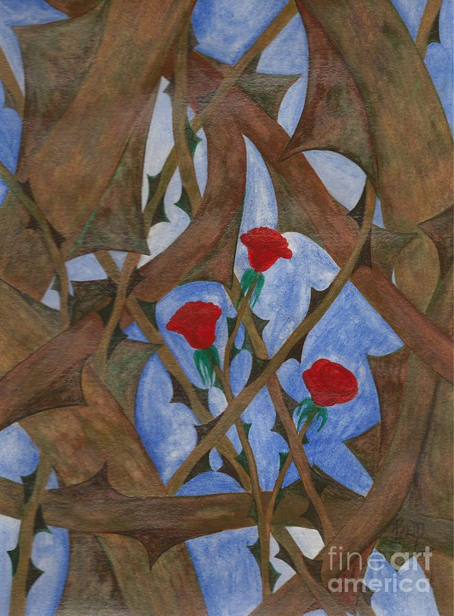 Roses Painting - Its Complicated by Robert Meszaros